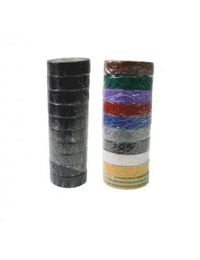 Izolācijas lentes krāsainas 19mm*10m 10gab.