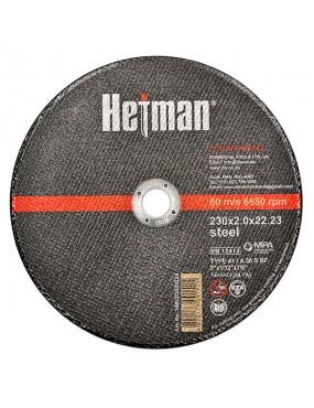 Griezējdisks metālam INOX 125x1.0x22.23mm, HETMAN