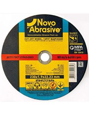 Griezējdisks metālam INOX 230x1.9x22.23mm, Novo Abrasive