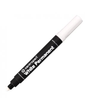 Centropen marķieris, balts 2.5mm