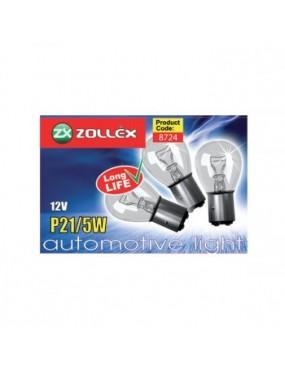 ZOLLEX Automašīnas spuldzes P21 5W 12V 10gab.