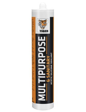 Hermētiķis Tiger Multi-Purpose sanitārais 280ml balts