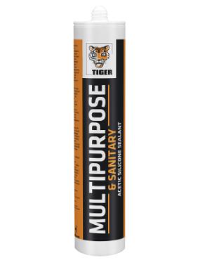 Hermētiķis Tiger Multi-Purpose sanitārais 280ml balts