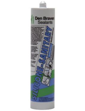 Silikons sanitārais caurspīdīgs 300ml Den Braven