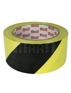 Pašlīmējoša lente brīdinājuma melna / dzeltena