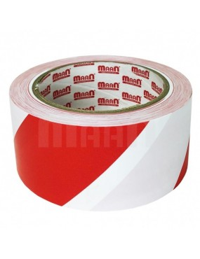 Pašlīmējoša lente brīdinājuma sarkana / balta
