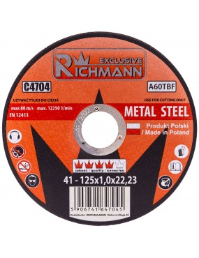 Slīpdisks metālam 125x6mm Richmann Exclusive