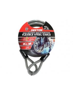 Drošibas kabelis pieslēgšanai 10mm x 1.8m Dekton