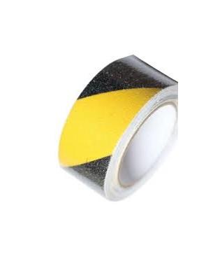 Pretslīdes lenta 50mmx10m dzeltena ar melnu, MAAN